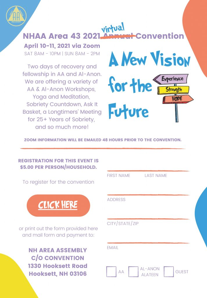 Area 43 2021 Annual Convention